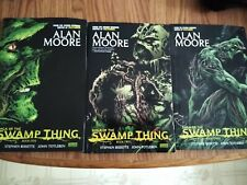 Saga of the Swamp Thing 1, 2, and 3 TPB Graphic Novel Lot DC Alan Moore