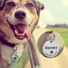 Personalized Dog Tags Cat Puppy Pet ID Name Collar Tag Paw Glitter Engraved Free
