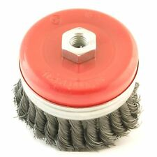 Dekton 100mm M14 Knotted Prof Wire Cup Brush