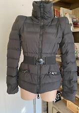 Moncler Ladies Down Jacket Sz 1 Black With Belt.