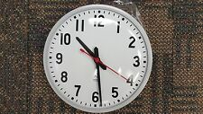 "12"" National Time Electric Wall Clock Surface Mount"