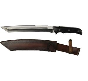 Tanto Knife 29cm Blade Sheath Camping Tactical Bowie Steel Military Pig Outdoor