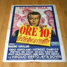 ORE 10 LEZIONE DI CANTO manifesto poster Villa Virgilio Riento Girolami C2