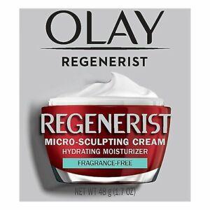 OLAY Regenerist Micro-Sculpting Cream Hydrating Moisturizer Fragrance Free 1.7oz