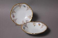 Rosenthal Sanssouci 2 Dessertschälchen Schale D 13,5 cm Blumen Goldzier Goldrand