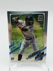 2021 Topps Series 1 Monte Harrison RAINBOW FOIL Rookie Card - Invest - Marlins