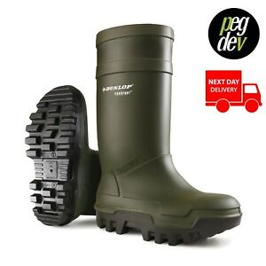 PUROFORT THERMO+ SAFETY GREEN WELLY WELLINGTON BOOT WELLIES SIZES 5-13