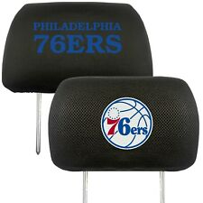 Philadelphia 76ers 2-Pack Auto Car Truck Embroidered Headrest Covers