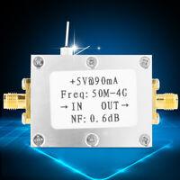 Low Noise High Linearity RF Amplifier LNA 50M-4GHz FM HF VHF / UHF Ham Radio