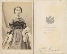 Alophe, Paris, madame Parret Vintage CDV albumen carte de visite CDV, tirage