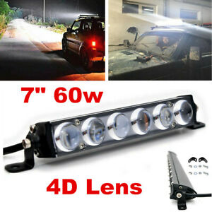 4D Lens 60w LED Work Light Bar Spot Beam Off road Driving Fog Lamp ATV SUV 4WD