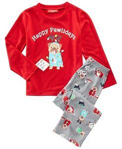 Family PJs Happy Pawlidays Dog Matching Christmas Pajama Set 6-7, Small #4271