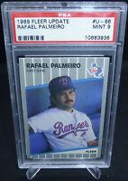 1989 Fleer Update Baseball Rafael Palmeiro Card #U-66 PSA Graded 9 Mint Cubs