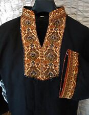 Stickerei Tunika Tracht Kurta Hemd Long Shirt Orient Kaftan Bollywood Kind Kleid