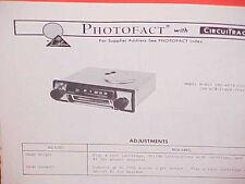 1972 MUNTZ CAR AUTO 8-TRACK STEREO TAPE PLAYER/AM RADIO SERVICE MANUAL M-607