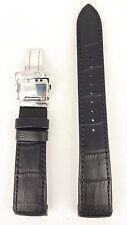 Original Seiko Premier Black Leather Watch Strap 7D56 0AA0 Band 5D88 5M54 7T86