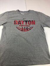 Nike Dayton Flyers Grey T Shirt Men's Size Large NCAA Basketball Double Sided