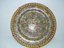 Antique/Vtg Chinese Famille Jeune Marked Porcelain Plate, Polychr. &Gold D 23cm