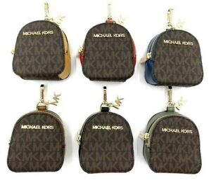 Michael Kors XS Signature Logo Leather Backpack Charm Airpod/ Airpod Pro Case