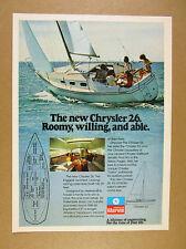 1977 Chrysler 22 Sailboat Yacht sailing photo vintage print Ad
