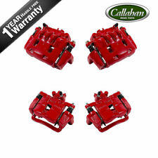 For 2002 2003 2004 2005 2006 2007 Impreza Front+Rear Red Brake Calipers