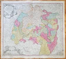 Homann Map Schwaben Wuerttemberg Bodensee Circulus Sueviae Germany - 1740