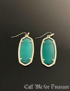 Kendra Scott Elle gold drop earrings NEW