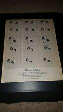 Barbra Streisand Barry Gibb Woman In Love Rare Original Promo Poster Ad Framed!