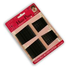 100 Pack Black Hair Grips Kirby Style Non Slip Grip Bobby Pins