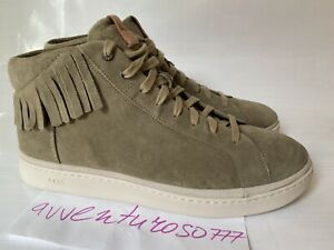 UGG Cali High-Top Fringe Sneakers Suede Men's Size 14 Antilope 1020137