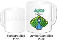 Personalised Animal Peacock Bird Jumbo Mug Coffee Tea Cup Novelty Birthday Gift
