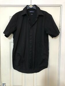 Ben Sherman Mens Shirt Black Size 2 Small S Short Sleeve (N157)