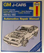 GM J-Cars 1982-1992—Haynes Manual: J2000, Sunbird, Skyhawk, Firenza & Cimarron