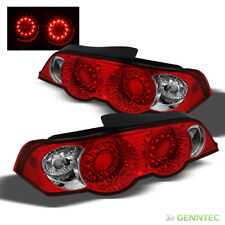 For 02-04 Acura RSX Red Clear LED Tail Lights Lamps Rear Brake Pair Left+Right