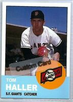 TOM HALLER SAN FRANCISCO GIANTS 1963 STYLE CUSTOM MADE BASEBALL CARD BLANK
