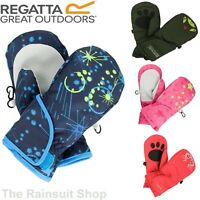 Regatta Kids Padded Spatter  Mitts Warm Insulated Mittens Girls Boys