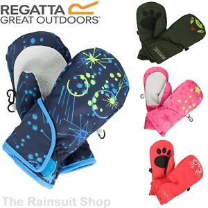 Regatta Kids Padded Spatter  Mitts Warm Insulated Mittens Girls Boys