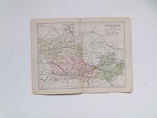 Berkshire mappa con Le Ferrovie-PHILIPS-ANTIQUARIATO data 1890 - 7inx 9 in (ca. 22.86 cm)
