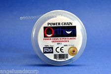 Dental Orthodontic Power Chain Elastic Short Clear Transparent Cadena Spool