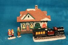 Department 56 Original Snowhouse Series - Train Depot With Train 1990