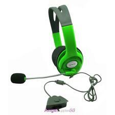 Slim Wireless Controller Xbox 360 Headset Headphone Green with Mic