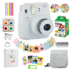 Fujifilm Instax Mini 9 Film Camera Smokey White + 20 Sheets + Case + Album + Acc