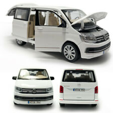 VW T6 Multivan MPV 1/32 Model Car Diecast Toy Vehicle Kids Gift Collection White