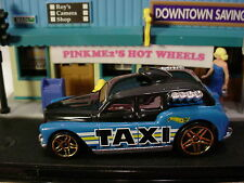 2017 HW CITY WORKS Design COCKNEY CAB☆Blue/black; pr5; TAXI☆LOOSE Hot Wheels