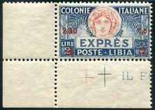 1927 Libia Espresso 2,50 lire dent. 11 nuovo angolo spl ** MNH
