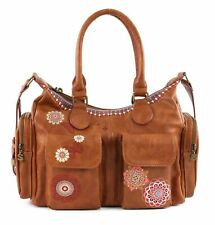 Desigual Chandy London Shoulder Bag Schultertasche Tasche Marron Braun Rot Neu