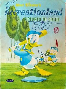 Walt Disney's Recreationland Pictures to Color Whitman Coloring Book 1955