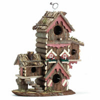 Songbird Gingerbread Style Birdhouse Aviary Outdoor Garden Bird House Condo