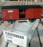 Fleischmann 5350 H0 gedeckter Güterwagen G München DRG Epoche 2 neuwertig in OVP