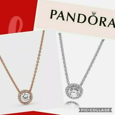 Genuine Pandora Classic Elegance Necklace 396240CZ Rose Gold, Silver 45cm UK ALE